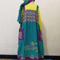 baju muslim anak gamis keke size 11 kuning