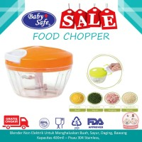 BABY SAFE Food Chopper Blender Manual Food Processor BABY SAFE CP001