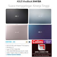 LAPTOP ASUS X441BA - AMD A4 9125 4GB 1TB VGA AMD R3 14 WIN10 RESMI