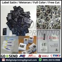 Promo Cetak Label Satin Meteran / Label Hijab / Label Baju Pita Satin