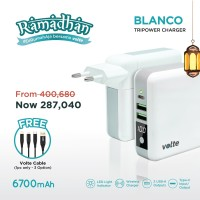 VOLTE BLANCO ( FREE KABEL ) Tripower Charger 6700mAh