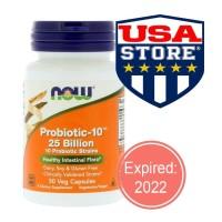Now PROBIOTIC 10 25 Billion 50 Veg Cap Now Foods Probiotic-10