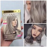 MIRANDA Hair Dye MC-16 Ash Blonde 30ml Cat Rambut Blond Grey Silver