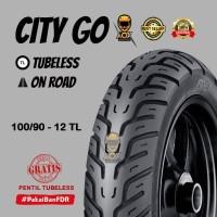 Ban luar motor matic 100/90-12 FDR CITY GO tubeless, GRATIS cop tbl