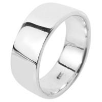 Cincin Perak 925 Lapis Emas Putih Rhodium Pria Simple Polos APP01