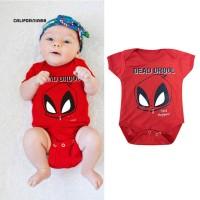 Cali Romper Lengan Pendek Motif Kartun Spiderman untuk Bayi
