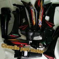 Full Body Bodi Honda Supra X Lama 2002-2004 suku cadang
