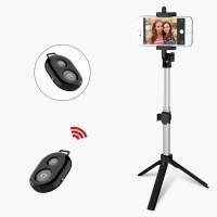 Mini Tripod Bluetooth Selfie Stick for IPhone IOS Tripode Remote