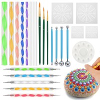 25pcs Mandala Dotting Tools for Rock Painting Kit Dot Art Rock Pen