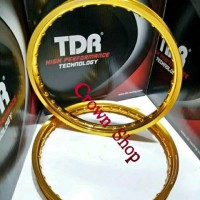 Velg TDR ring 17 model kotak W shape lebar 140-160 ring 17 isi du