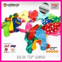 Balon Ultah Pesta Polkadot Love Frozen Polos Warna satuan Murah