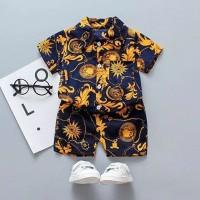 Setelan kemeja bayi model batik