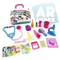 My Little Pony Doctor Set Mainan Anak perempuan Alat Dokter Tas Koper
