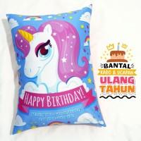 Bantal Kado & Hadiah Ulang Tahun Tema Unicorn 30x40cm - Ready - NO PO