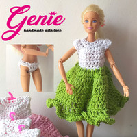 Mainan anak cewek - baju barbie - dress rajut