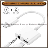 Lightning To 3.5mm Audio Jack Charge Adapter 2in1 Iphone 7 8 Plus X
