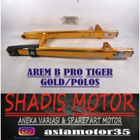 Arem Motor Tiger Merk B Pro Warna Gold Model Polos