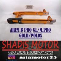 Arem Motor Mega Pro GL Merk B Pro Warna Gold Polos