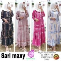 Baju Terusan Wanita Muslim Longdress Sari Maxy Eknw