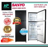 AQUA AQR-D270 Kulkas 2 Pintu 220L Low Watt AQRD270 No Frost Sanyo
