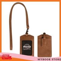 Name Tag ID Card Holder Patuk Kalung Premium ID Badge Leather MBS
