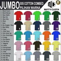 6XL Kaos Polos Cotton Combet 30s BIG SIZE
