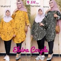 ELVIRA Couple Tunik Ibu Anak Big Size Baju Muslim Family LD 90-120 cm