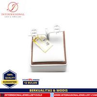 Anting Emas Putih Asli 750 INTERNASIONAL Original AMP119