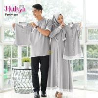 couple gamis Hulya Family set / Baju seragam gamis pesta set Keluarga