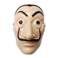 Topeng Money Heist Mask Salvador Dali Pesta Halloween Cosplay Bandit
