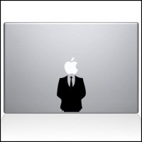 Decal Sticker Macbook Apple Man in Suit Boss Lucu Stiker Laptop OBRAL