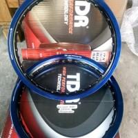 lingkar velg almunium TDR ring 14 hitam biru 2 tone warna last s