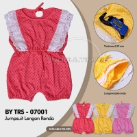 Baju Bayi Lengan Pendek terusan jamsuit TRS-07001 pakaian bayi perem