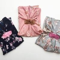 Ready Stock Premium Flower Kaftan Dress Anak Perempuan Babeebabyshop -