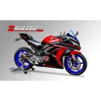 Decal Stiker Kawasaki Ninja 250 Fi Merah Hitam