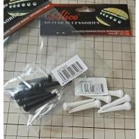 Knip Pin Bridge Gitar Akustik Alice Polos Set 6 pcs
