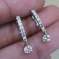 Anting Emas Berlian Eropa Asli 100% Original Putih Giwang Wanita KGH10
