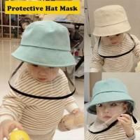 PROTECTIVE HAT MASK Topi Plus Pelindung Wajah bayi anak