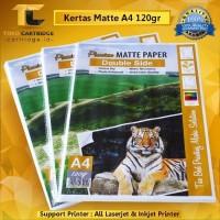 Kertas Brosur Matte Art Paper Double Side A4 120 gsm 50 lbr Doff Mate
