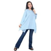 Dress Biru muda casual wanita Dress blouse atasan cewek ori KZ-Tura
