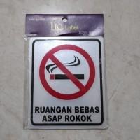 Sign Label Ruang Bebas Asap Rokok