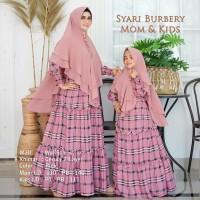 Baju Muslim TERBARU Wanita Couple Anak Dan Ibu Syari Gamis Burbery
