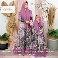 Gamis Syari Couple Ibu dan Anak Tasiza Max Lux Ceruty Premium Quality