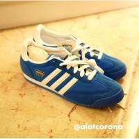 Adidas Dragon Blue White Stripe/Sepatu Wanita/Sepatu Pria/Sneakers Uni