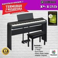 Yamaha P125 Stand Kayu 3 pedal + Kursi /P-125 /P125B Digital Piano