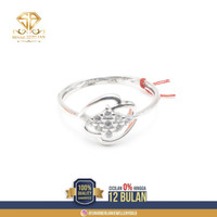 SINAR BERLIAN JEWELLERY - Cincin emas putih Asli 375 Original CMM092