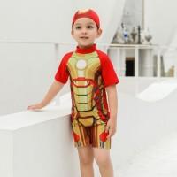 Baju Renang Iron Man Anak Laki-Laki 2 - 11 Tahun . Swimsuit . WS-1014