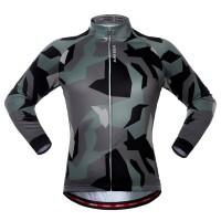 Kompresi. Kaos Lengan Panjang Kamuflase Berkuda T-shirt Sepeda