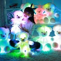 tumblr 7 Colorful Bear Luminous Pillow Christmas Toys Led Light