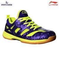 CLEAR SALE Sepatu Badminton Lining BRIO II AYTM091 Purple Lime